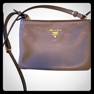 Prada Double Zip Phenix crossbody